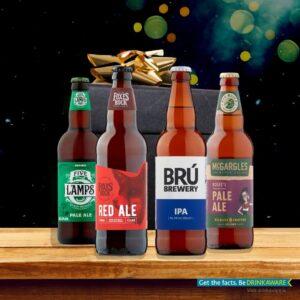 craft beer box with 4 irish craft beers